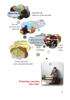 Preparing a meeting - graphic